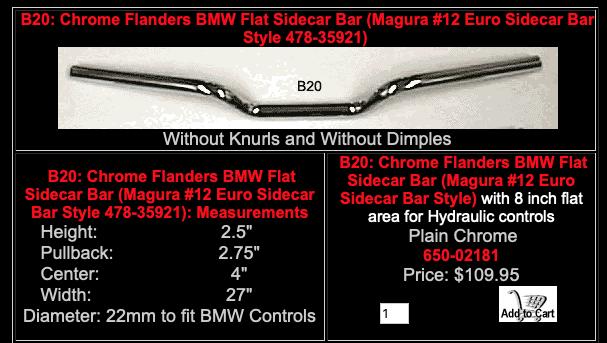 Custom Handlebar (incl. Wiring holes for blinkers) Scree127