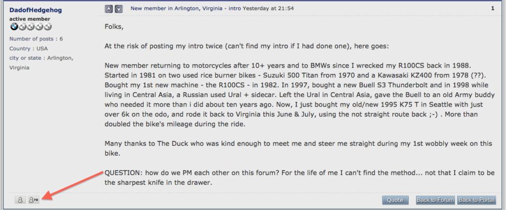 New member in Arlington, Virginia - intro Screen64
