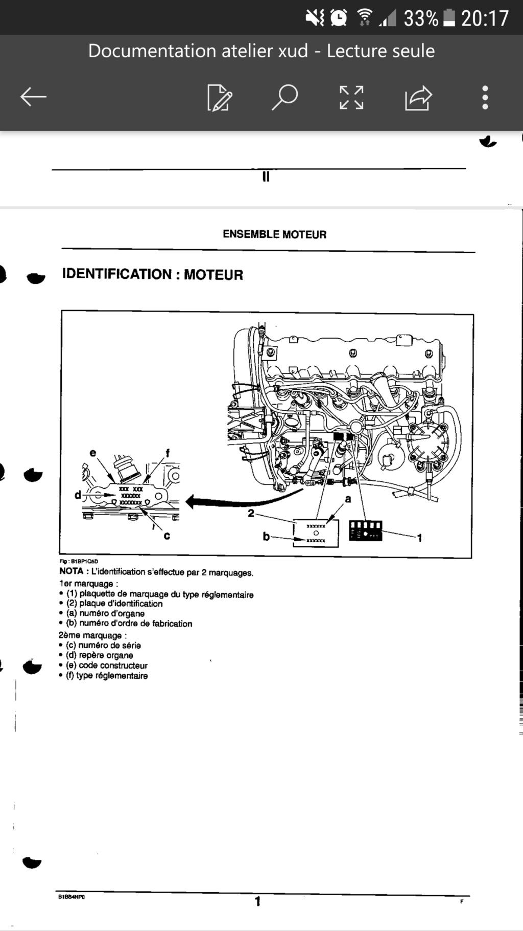 Connaître sa référence moteur et précision sur amortisseur tringlerie injection Screen12