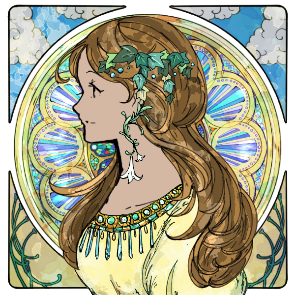 Weekly Dress Up Games: Stained Glass Maiden 111