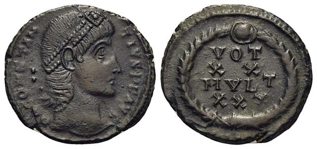 2 Nummus référencées pour Constance II ...   Cons211