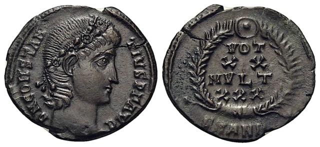 2 Nummus référencées pour Constance II ...   Cons311