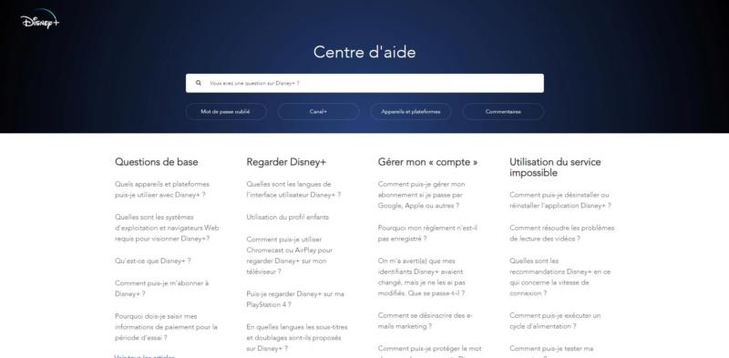 Disney+ Axes d'amélioration Centre10