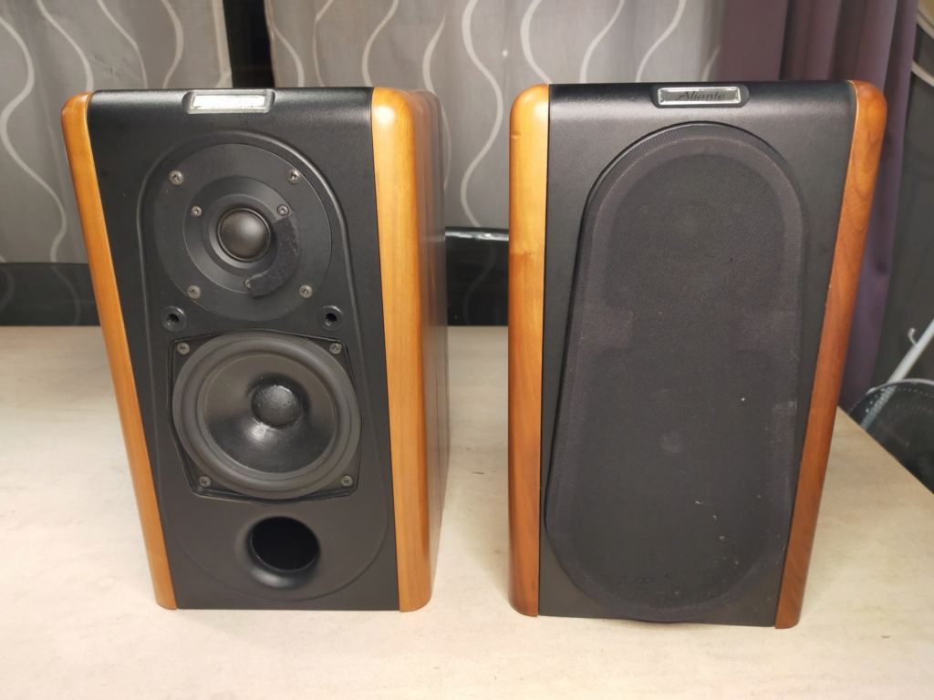 Aliante Bookshelf Speakers (with solid walnut finished)  Img20213