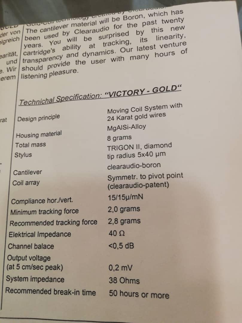 Clearaudio Victory Low Output 24k Gold Cartridge Whatsa36