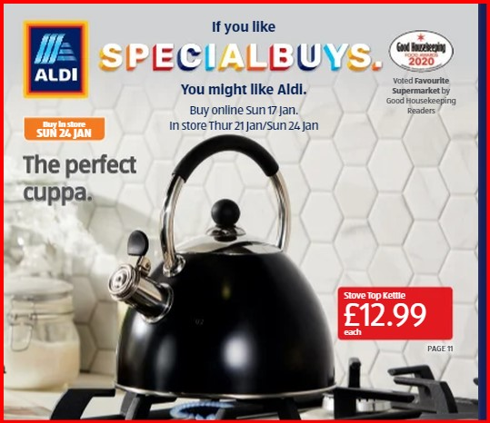 A kettle for the gas hob Aldi_k10
