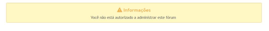 Sem acesso ao Painel de administração 2020-015