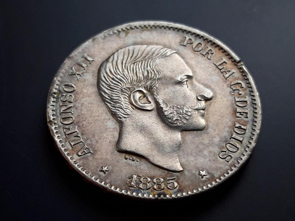 50 centavos de peso 1885. Alfonso XII. Filipinas Anvers10