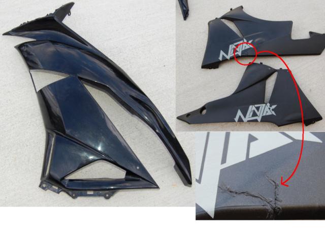 [VENDU] Carénage noir origine Kawasaki zx6r 2009 Caren_19