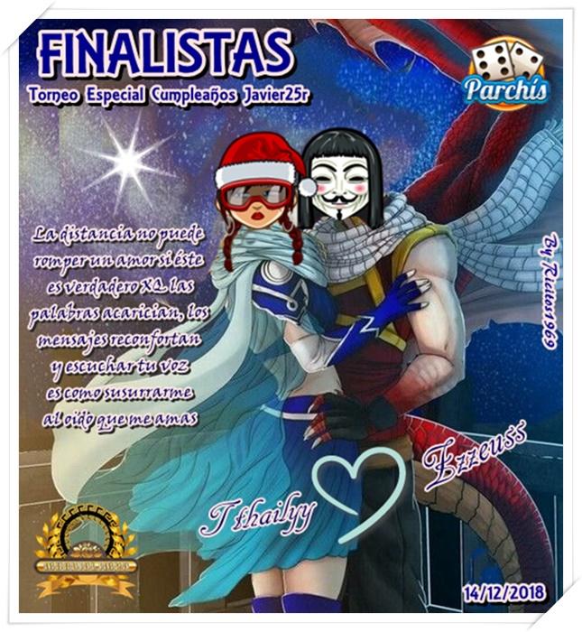 Ganadores Torneo Parchis Especial Cumpleaños Javier25r 14/12/2018 Finali24