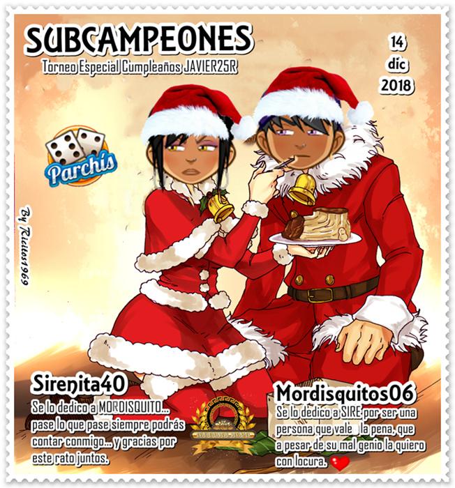 Ganadores Torneo Parchis Especial Cumpleaños Javier25r 14/12/2018 Subcam20