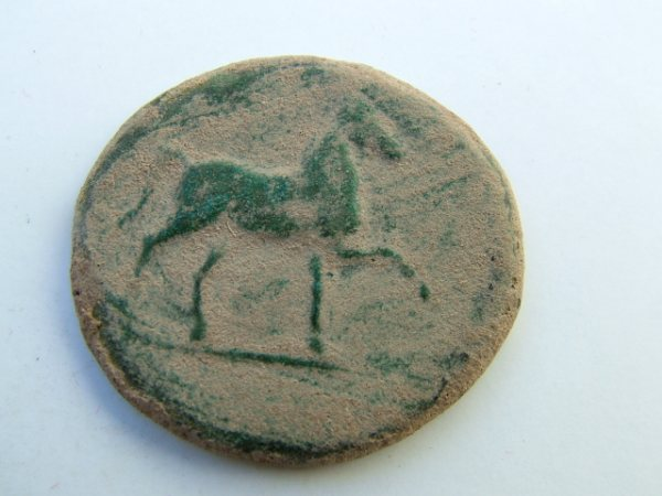 Imágenes a gran escala de pátinas y monedas falsas. Escalofriante (+18). 030-sa10