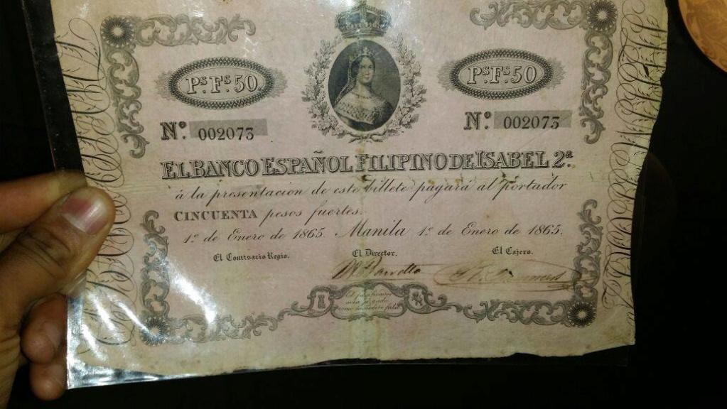 50 Pesos fuertes de Filipinas de Isabel II 25sri210