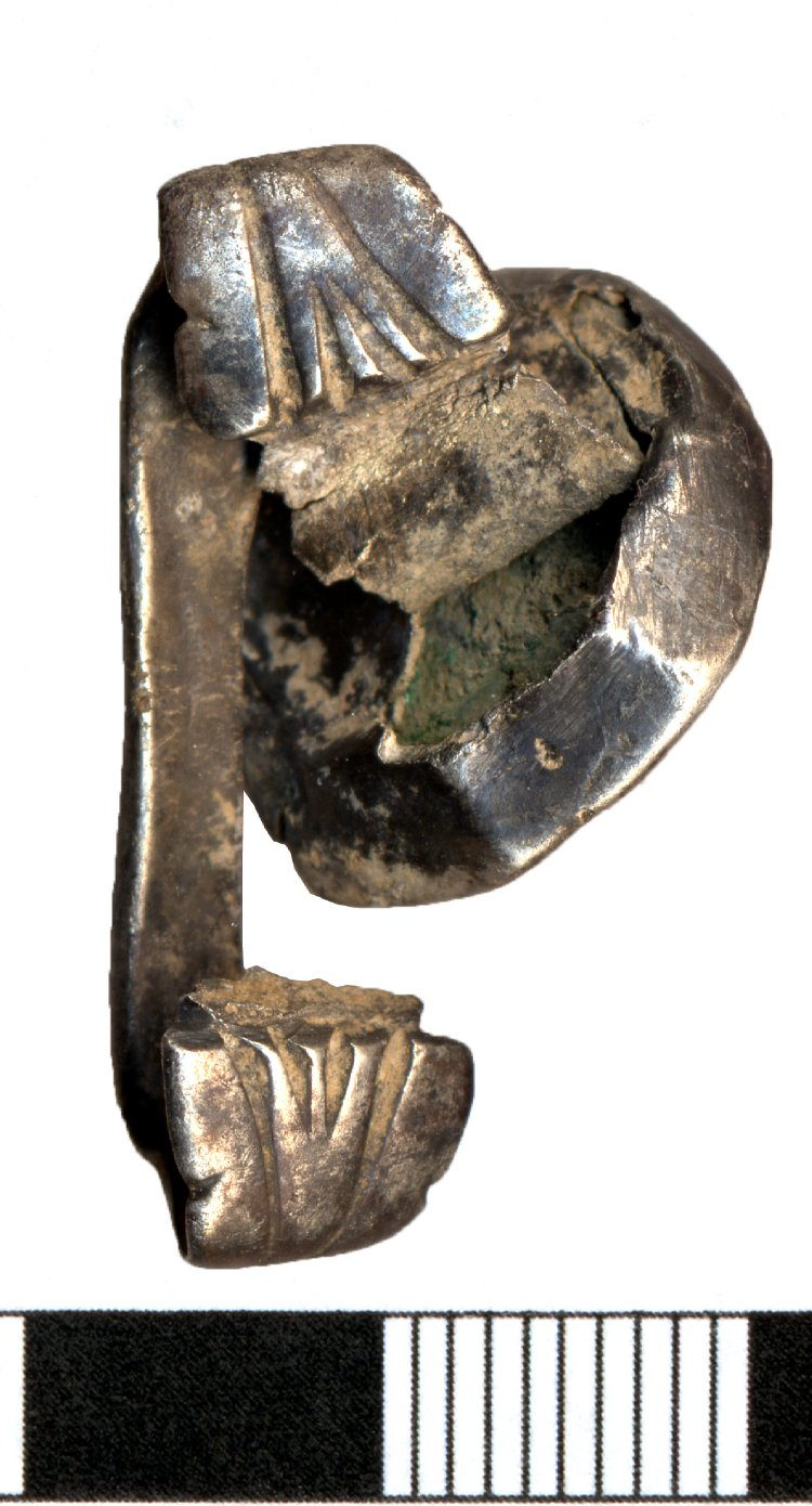 Anillo romano de plata con denario de Heliogábalo An015311
