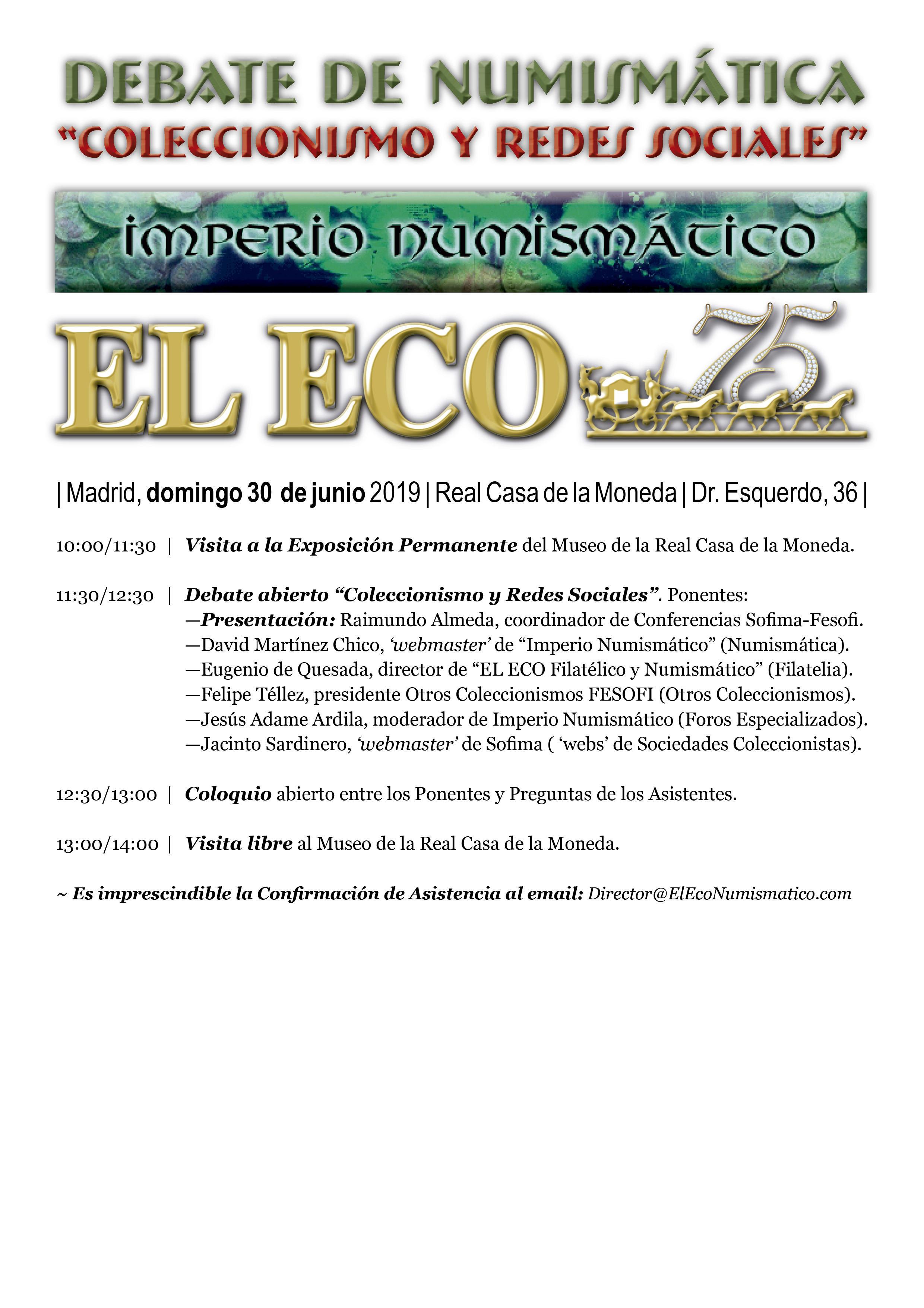 I Quedada del foro/Simposio Numismático (Madrid, 29 junio). Progra11