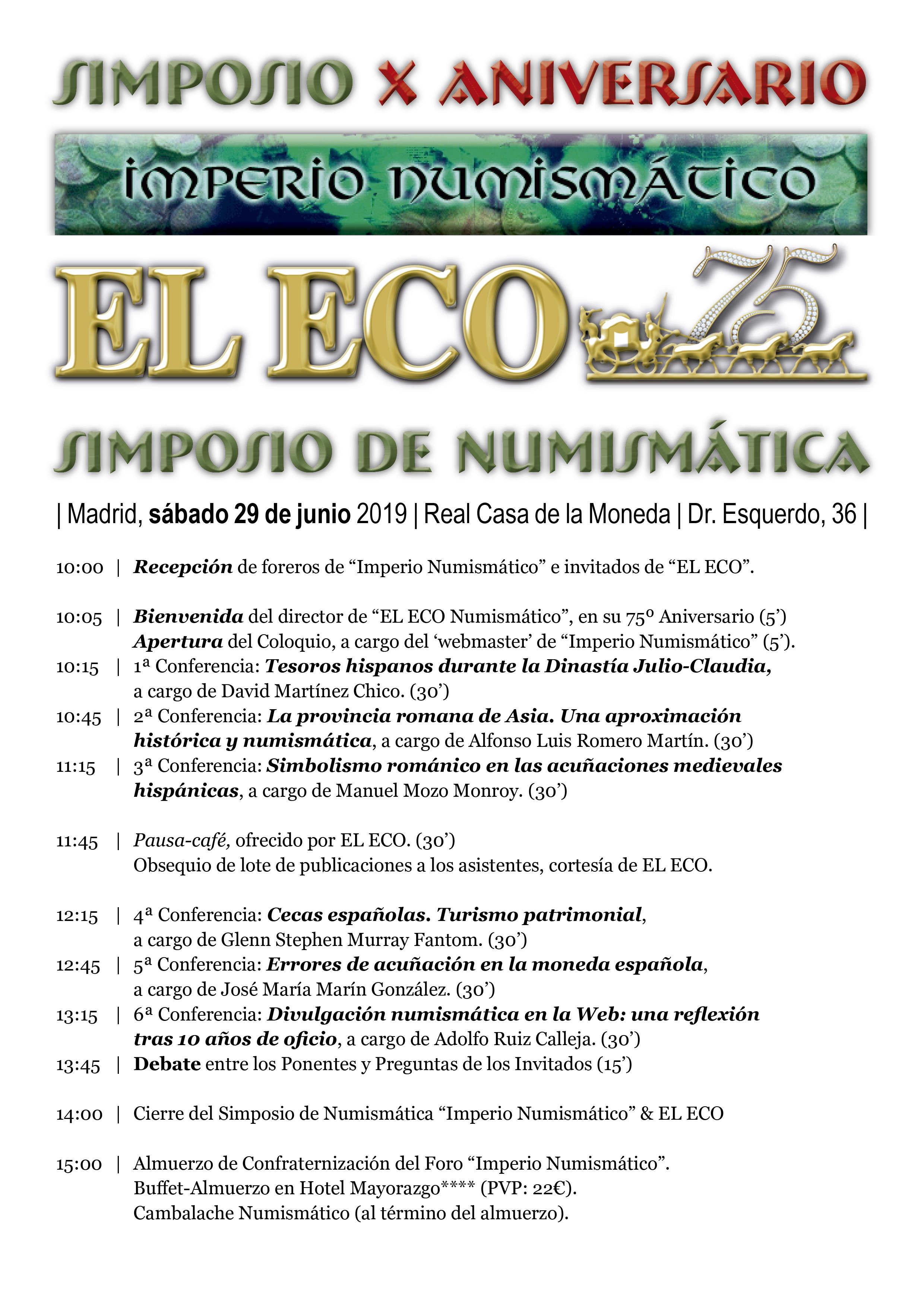 I Quedada del foro/Simposio Numismático (Madrid, 29 junio). Progra12