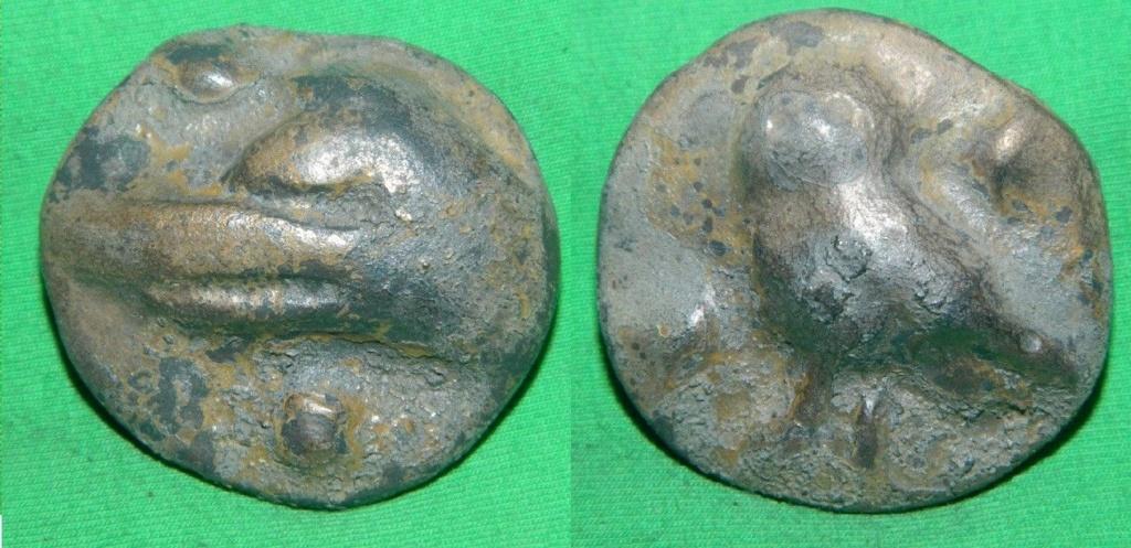 Sextante aes grave (Lechuza). Centro de Italia. S. III a.C. FALSA arqueologo55 Ojo! S-l16011