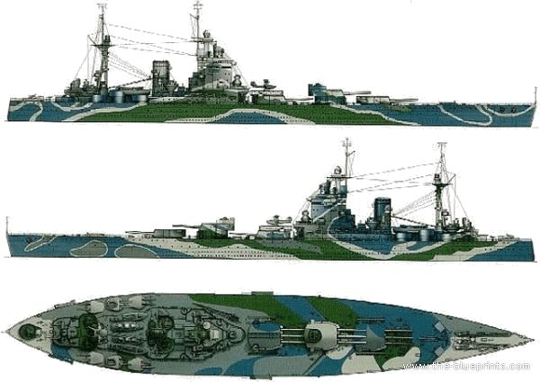 HMS RODNEY / Trumpeter, 1:200 RC 16_in_10