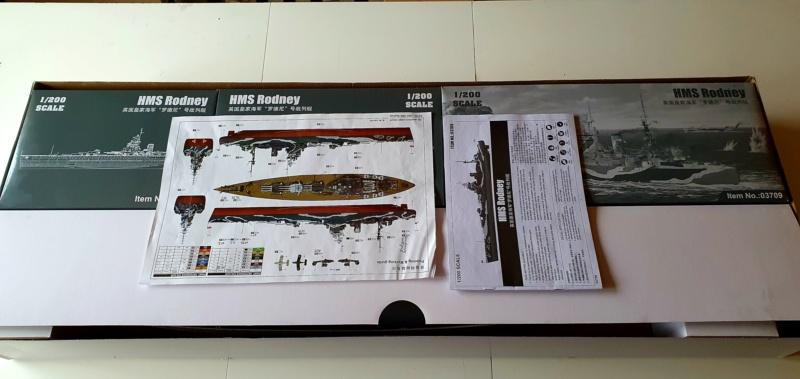 HMS RODNEY / Trumpeter, 1:200 RC 20200321