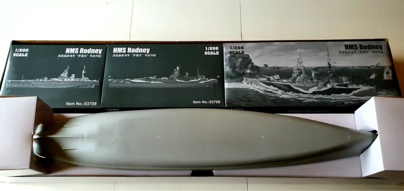 HMS RODNEY / Trumpeter, 1:200 RC 20200322