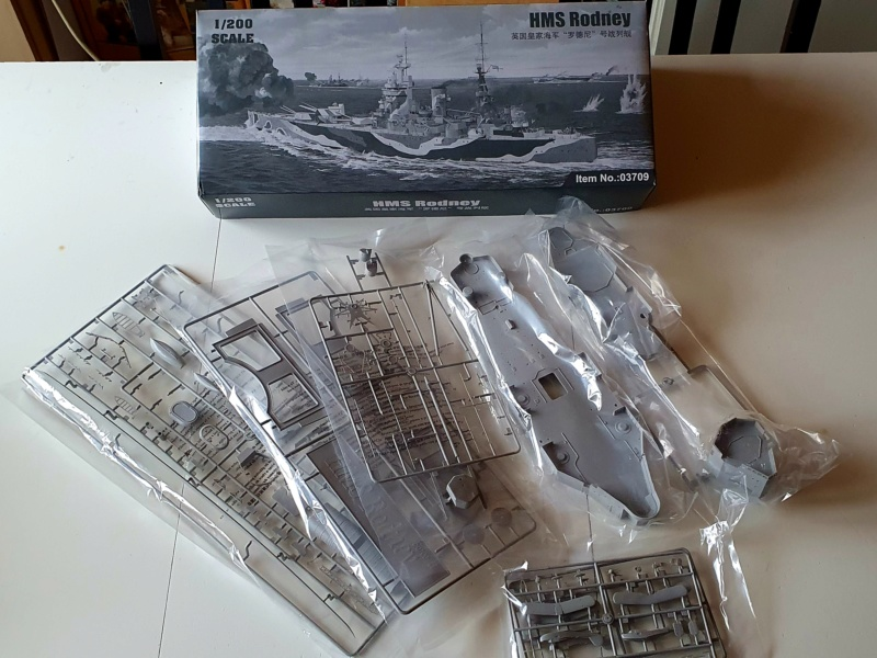 HMS RODNEY / Trumpeter, 1:200 RC 20200325