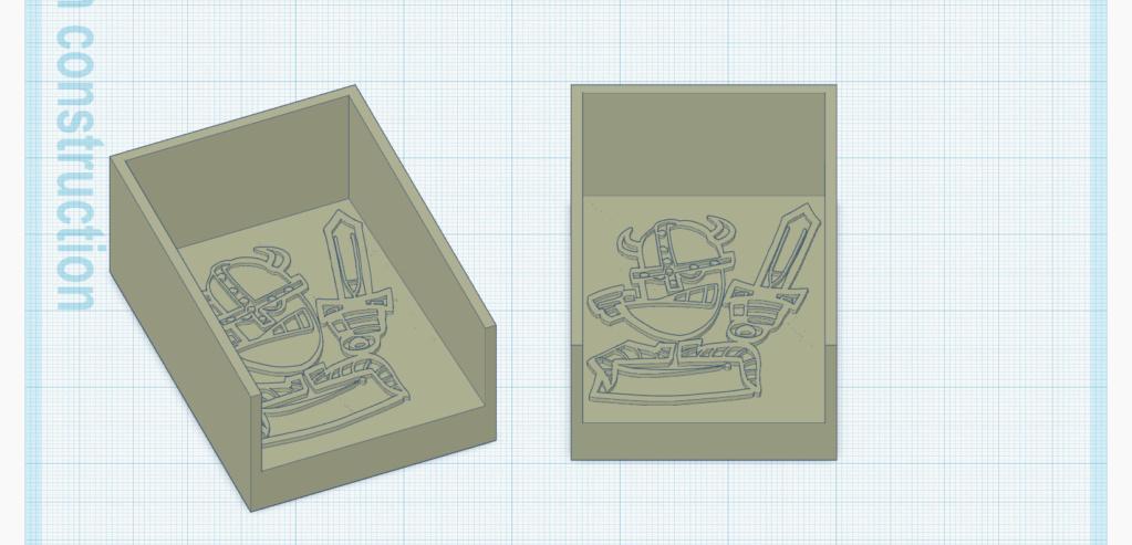 [Impression 3D] Sabot à cartes Bac_de11