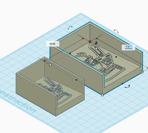 [Impression 3D] Sabot à cartes Bac_de12