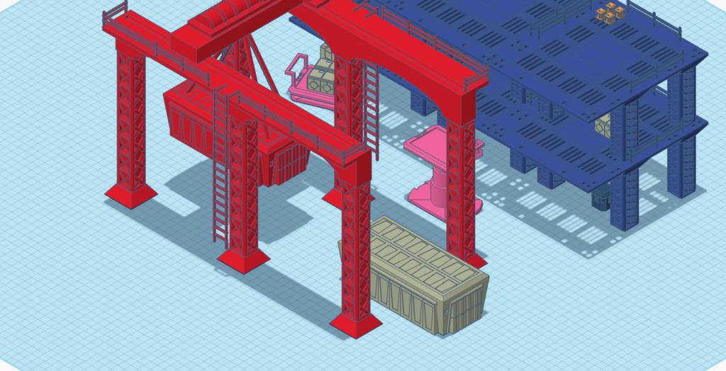 [Décors] Avant projet pour impression 3D Entrep14