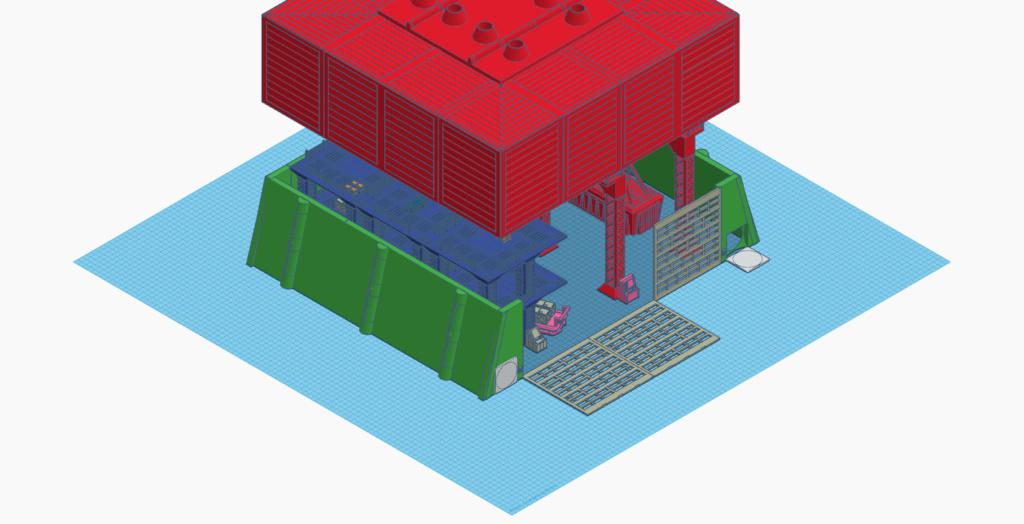 [Décors] Avant projet pour impression 3D Entrep16