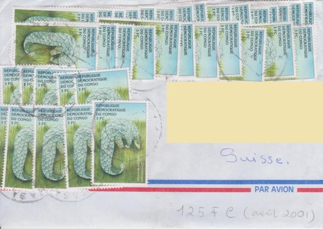 Brief mit 50 Briefmarken Lettre10