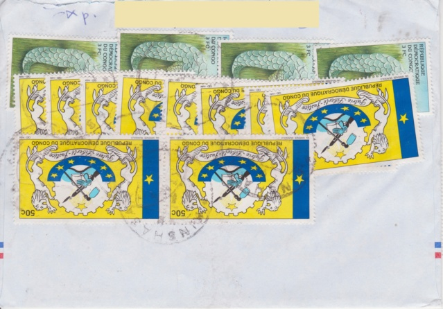 Brief mit 50 Briefmarken Lettre11