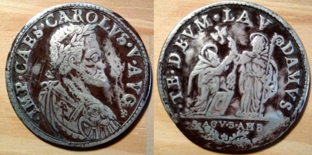 Medalla o moneda de Carlos I 36a10