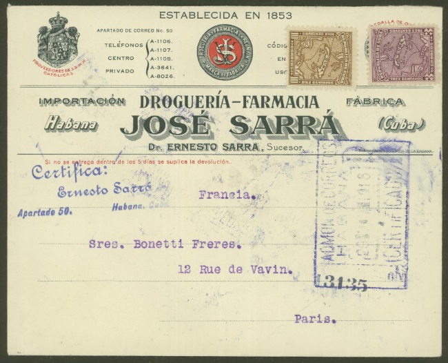 Cuba - Belege mit Briefmarken 0510
