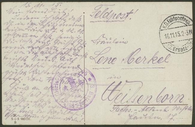 Feldpost deutscher Soldaten 16111511