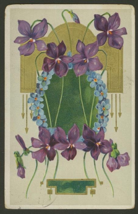 Romantische Postkarten  1710