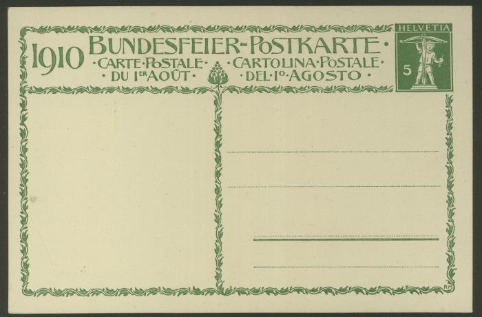 Bundesfeier-Ganzsachenpostkarten - Zumstein BuP 1910_x11