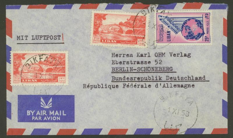 Briefe und Karten aus dem Libanon 3210