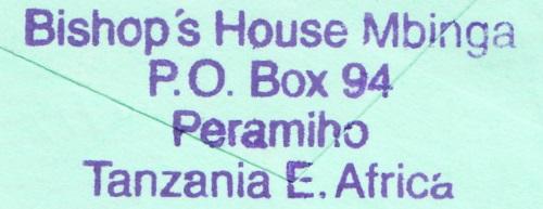 Tansania - Belege mit Briefmarken 4018_010