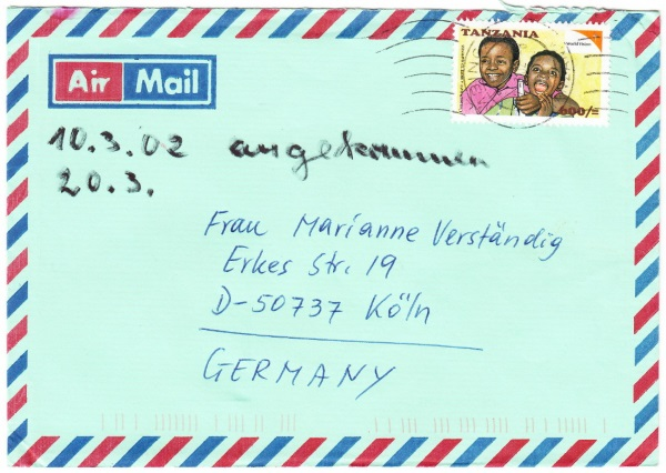 Tansania - Belege mit Briefmarken 4018_011