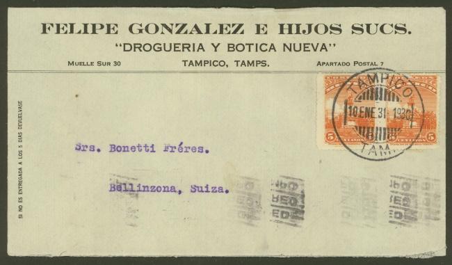 Mexiko - Briefe und Karten (ohne Ganzsachen) 584a_110