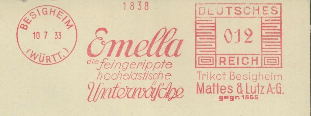 Die Poststempel von Lausanne Besigh12
