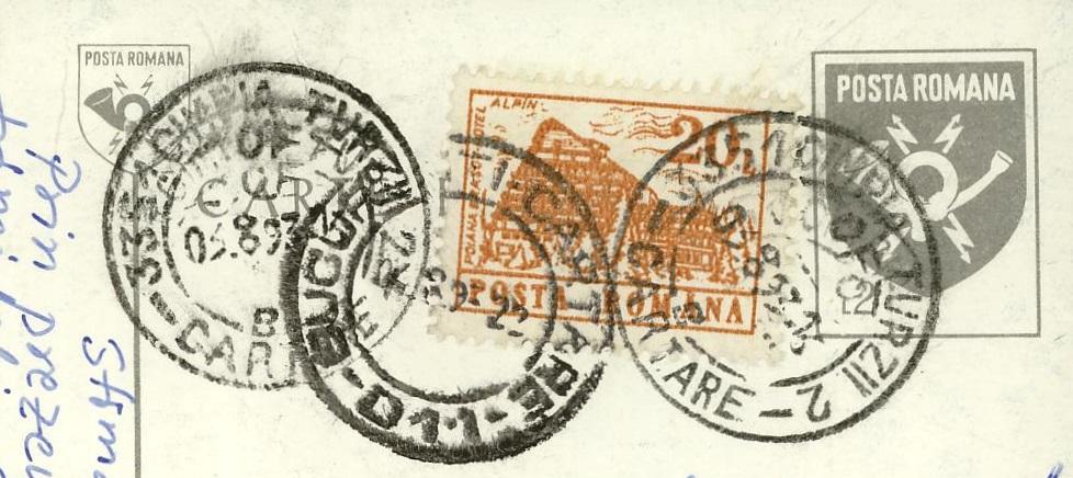 Rumänische Postkarte Code_111