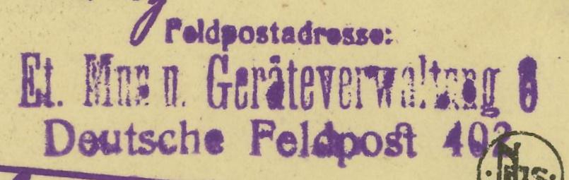 Feldpost deutscher Soldaten Feldpo11