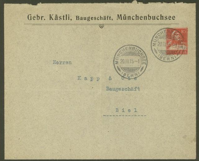 Private Ganzsachenumschläge - Wertstempel Tellkopf Gebr_k10