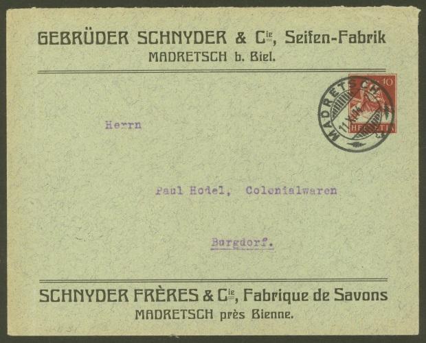Private Ganzsachenumschläge - Wertstempel Tellkopf Gebrzd10