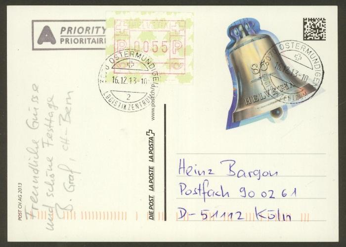 Ganzsachenpostkarten - Ausgaben ab 1981 bis in die Gegenwart Gs_16110