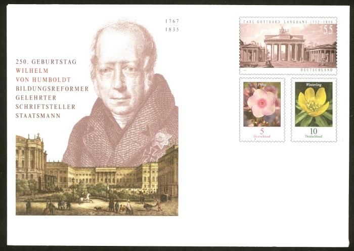Deutschland - Gedenkbriefumschläge der Deutschen Post Humbol11