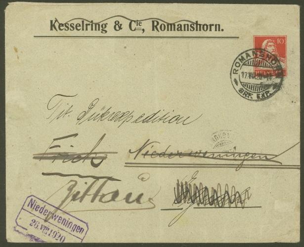 Private Ganzsachenumschläge - Wertstempel Tellkopf Kessel10