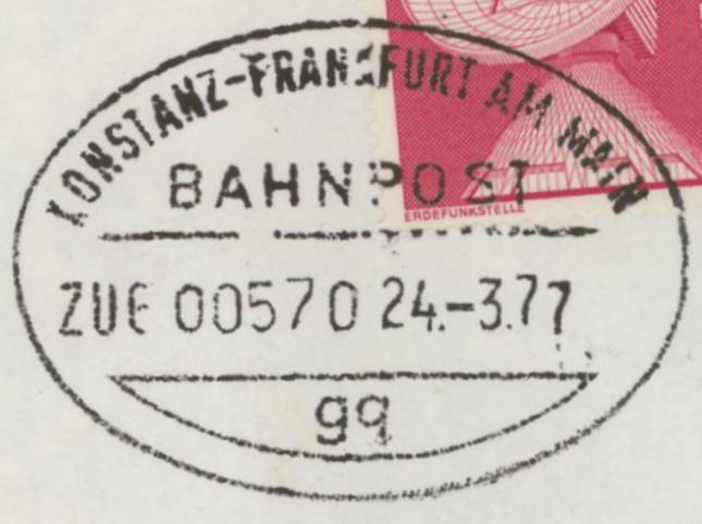 Bahnpost aus Baden-Württemberg Konsta10