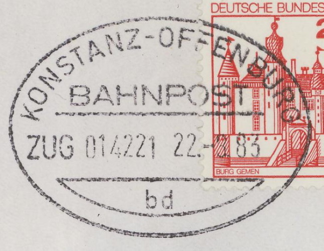Bahnpost aus Baden-Württemberg Konsta12